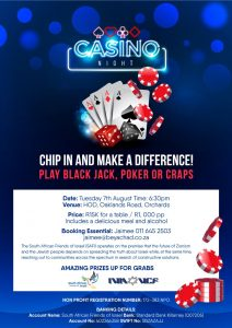 Casino night @ H.O.D Oakland's Rd, Orchards