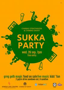 Chabbad Strathavon &Chabbad Savoy, Sukka Party