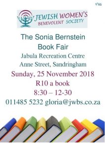 Jewish Womens Benevolent Society, book fair