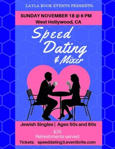 Jewish singles dating & mixer for ages for 50s- 60s