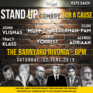 Stand up comedy for a cause @ The Barynyard Rivonia