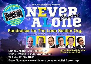 """Never Alone"" Lone Soldier organization Concert Fundraiser:"