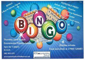 Bingo event @ Emmarentia Shul @ Emmarentia Primary School