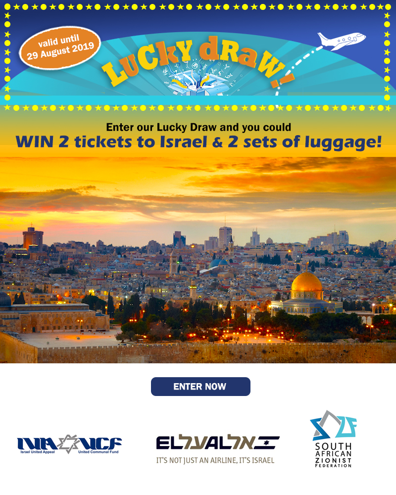 2 El-Al Return tickets to Israel and 2 sets of luggage set up for grabs