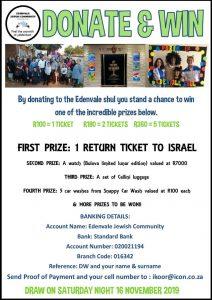 Edenvale shul fundraiser